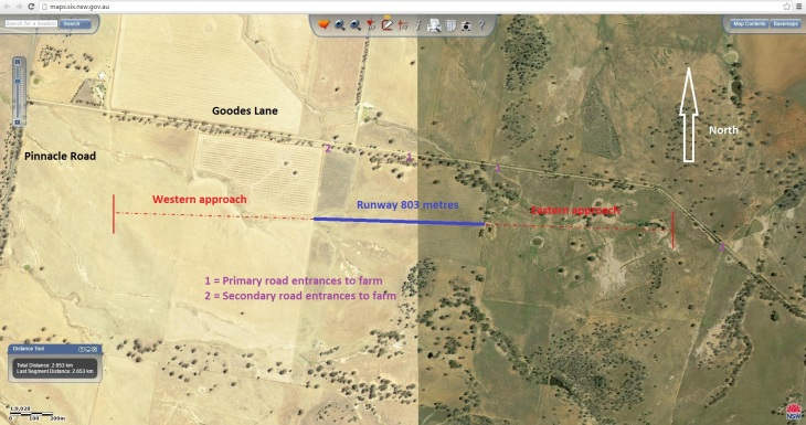 Ochre Arch Landing Area SIX Image 20160710 with approaches 2